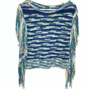 Sweaters - HOBO MULTI COLORED FRINGE PULLOVER SWEATER